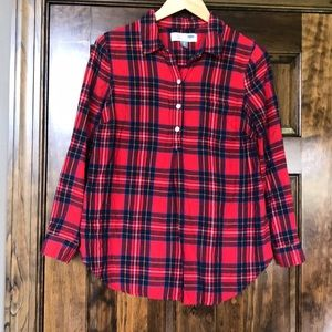 Old navy XS maternity flannel shirt